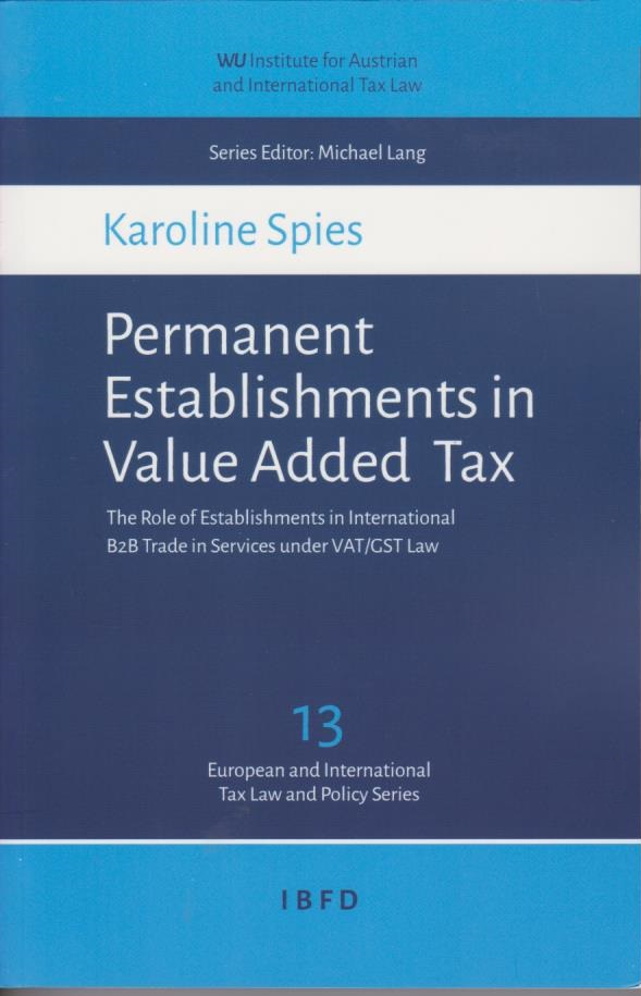 Permanent Establishments in Value Added Tax