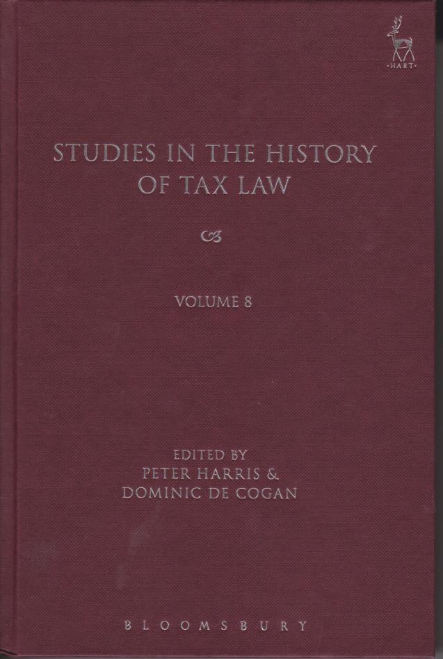 Studies in History of Tax Law Volume 8