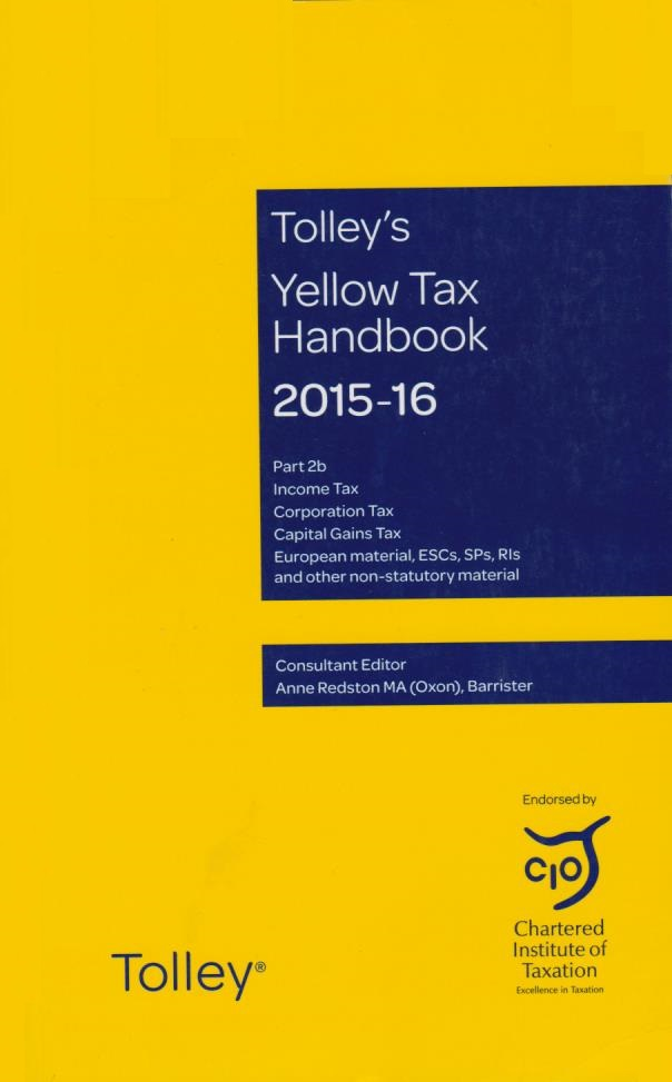 Tolley's Yellow Tax Handbook 2015-16 Part 2b