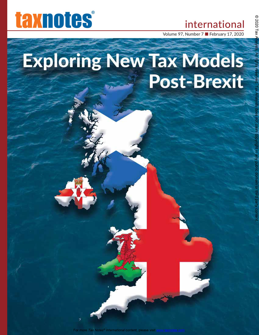 Tax Notes International: Volume 97, Number 7, February 17, 2020