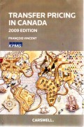 Transfer Pricing in Canada 2009 Edition