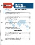 Tax Notes International: Volume 48, Number 7, November 12, 2007