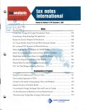 Tax Notes International: Volume 48, Number 10, December 3, 2007