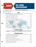 Tax Notes International: Volume 48, Number 11, December 10, 2007
