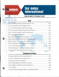 Tax Notes International: Volume 48, Number 13, December 24, 2007