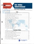 Tax Notes International: Volume 48, Number 6, November 5, 2007