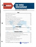 Tax Notes International: Volume 48, Number 9, November 26, 2007