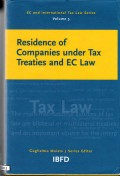 Residences of Companies Under Tax Treaties and EC Law