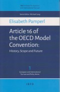 Article 16 of the OECD Model Conventio: History, Scope and Future