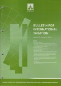 Bulletin for International Taxation Vol. 70 No. 9 - 2016