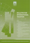Bulletin for International Taxation Vol. 72 No. 10 - 2018