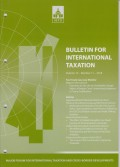 Bulletin for International Taxation Vol. 72 No. 11 - 2018