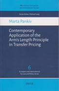 Contemporary Application of the Arm's Length Principle in Transfer Pricing