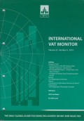 International VAT Monitor Vol. 25 No. 6 - 2014