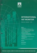 International VAT Monitor Vol. 26 No. 1 - 2015