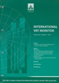 International VAT Monitor Vol. 26 No. 3 - 2015