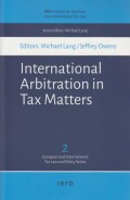 International Arbitration in Tax Matters