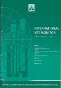 International VAT Monitor Vol. 25 No. 3 - 2014
