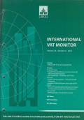 International VAT Monitor Vol. 26 No. 6 - 2015