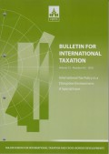 Bulletin for International Taxation Vol. 72 No. 4/5 - 2018