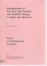Image of Interpretation of tax law and treaties and transfer pricing in japan and germany
