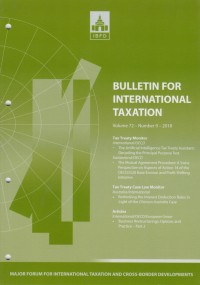 Image of Bulletin for International Taxation Vol. 72 No. 9 - 2018