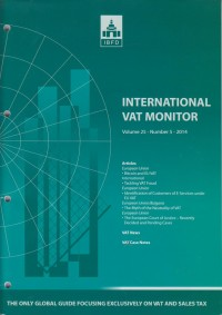 Image of International VAT Monitor Vol. 25 No. 5 - 2014