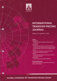 Image of International Transfer Pricing Journal Vol. 23 No. 2 - 2016