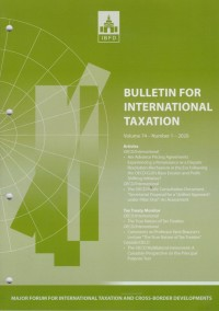 Image of Bulletin for International Taxation Vol. 74 No. 1 - 2020
