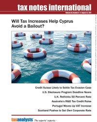 Image of Tax Notes International: Volume 63, Number 8, August 22, 2011